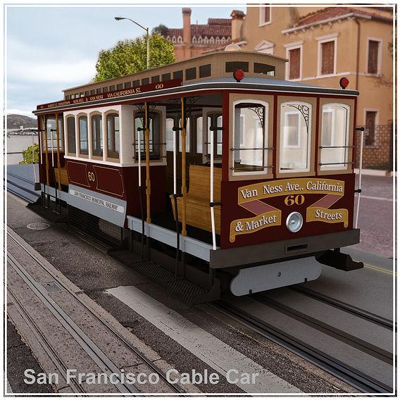 San Francisco municipal railway 3D model