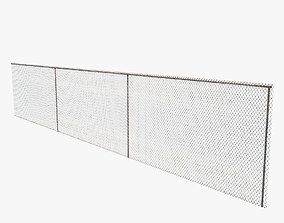 chain link fence 3D model