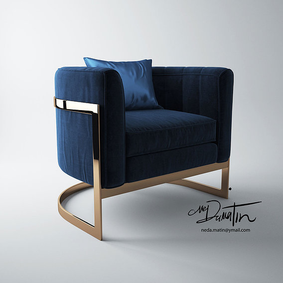 mica barrel armchair