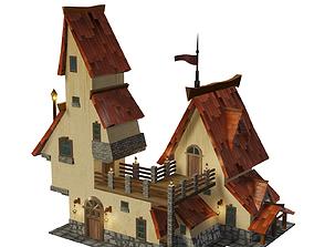 3d rendered Fantasy House realtime