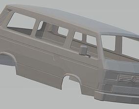 printable Volkswagen Transporter T3 Printable Body Van