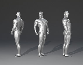 Muscular man for 3d printing