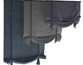 3D model Roman blinds set 14
