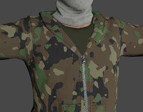 rigged Tactical Soldier Low-poly 3D model Ready for games