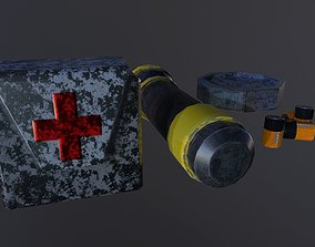 Survival Horror Game Pack 3D asset game-ready
