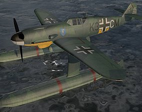 3D model Messerschmitt Bf-109W-1