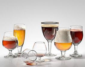 Alcohol Glass Set 3D