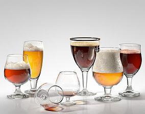 3D Alcohol Glass Set