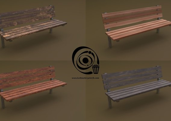 Bench 40 4in1 - 4 PBR Texture 1 Model RR