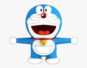 Doraemon Low Poly 3D asset