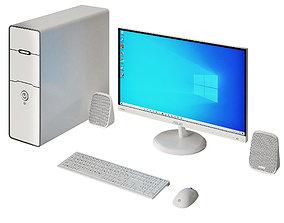 3D model White PC Asus