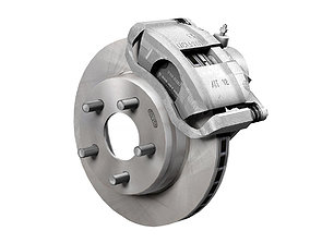 Car disc brake 3D