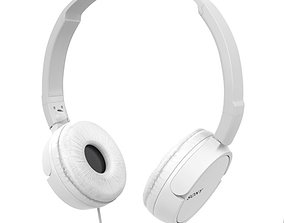 Sony MDR ZX110 Headphones white 3D model