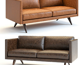 3D West Elm - Brooklyn Leather Sofa
