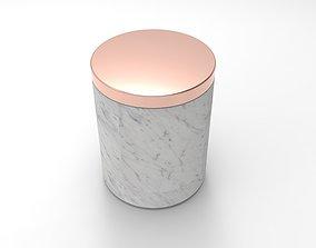 3D print model Carrara White Marble Candle Vessel