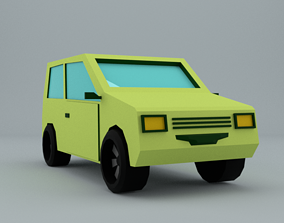 Low-Poly car prototype oka game ready 3D model