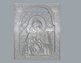 Virgin Mary with Sacred Heart Pendant 3D 2