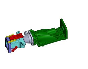 Boat Reversible Water Jet Drive 28 mm 3D printable model