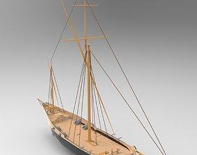 3D model Small Sailboat