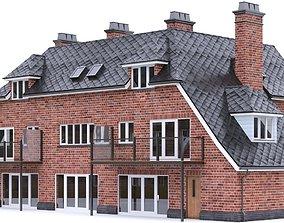 3D model English Brick House 03