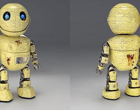 Friendly little robot rigged 3D