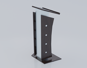 Modern Metallic lectern 3D model