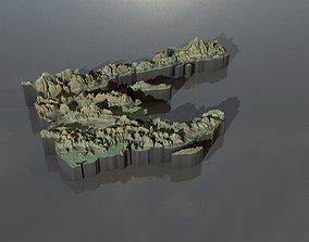 High resolution heightmaps and geometry for Haiti 3D model