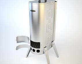 SiberStove Portable Wood Smoking Stove 3D model 1
