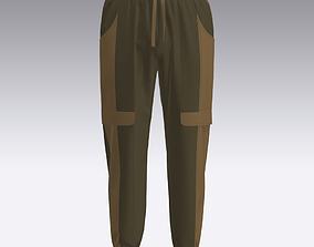 Men Cargo pants 3D CAD