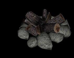 3D model fire wood low poly