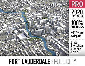 Fort Lauderdale - city and surroundings 3D model