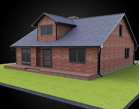 Residential style home fully modeled exterior