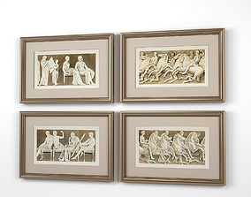 Eichholtz Prints Antiquities of Athens set of 3D model