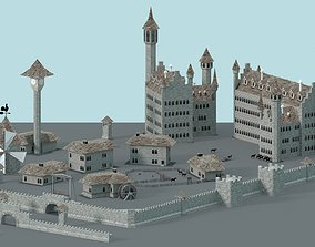 3D asset Game Ready Castle
