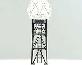 Airport Weather Radar Tower 3D model