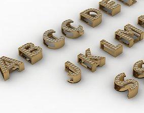 bracelets alphabet 66pcs 3D printable model