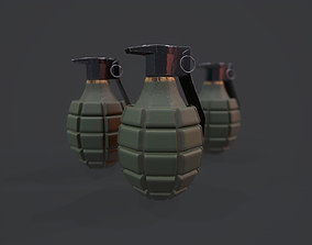 MK2 Grenade - Models and Textures Low-poly 3D asset