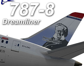 3D asset Boeing 787-800 Norwegian airlines Henrik Ibsen
