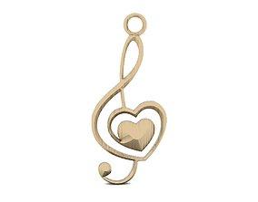 3D print model Love note earrings