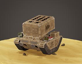 stylized multiple rocket launcher 3D model