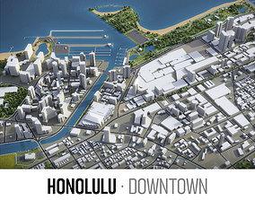 3D asset Honolulu - Downtown