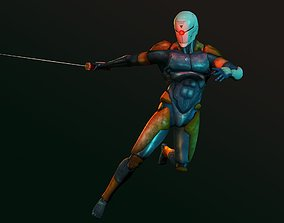 3D asset rigged Gray Fox - Metal Gear Solid