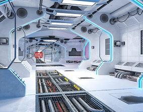 Sci-Fi Living Quarters kitbash 3D asset