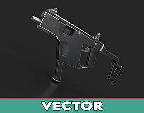 3D asset game-ready KRISS Vector