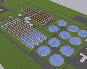 3D Water Waste and Sewage Treatment Plant
