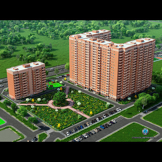 Visualization of residential complex Famaly Park