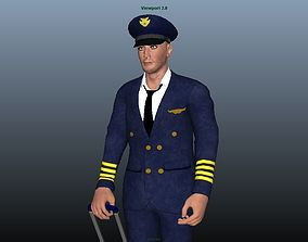 Pilot - Animated 3D model
