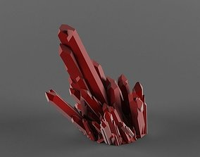 RED Crystal Quartz 3D model Scene is ready to render