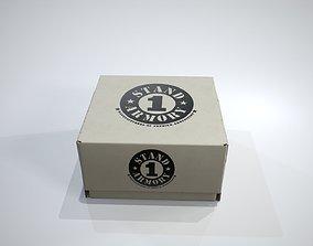 Cardboard Box 3D asset low-poly