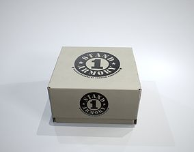 Cardboard Box 3D asset low-poly